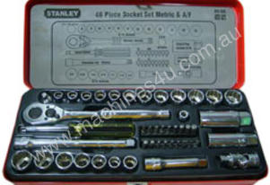 STANLEY 46 Piece Socket Set 3/8\ Drive