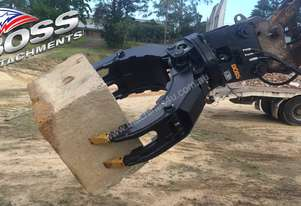 Boss 4-50 ton Rotating Demolition / Rock Grapples