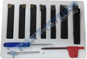 LATHE TOOL SET 10MM 7PCE REPLACEABLE TIP