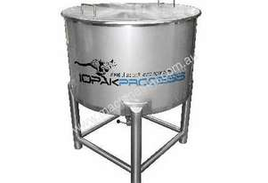 NEW 500L Holding Tank (conical bottom, lid & 2