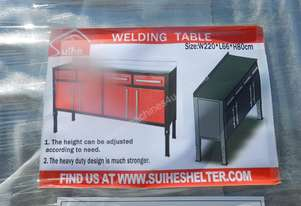 2.2m x 0.66m x 0.8m Welding Table