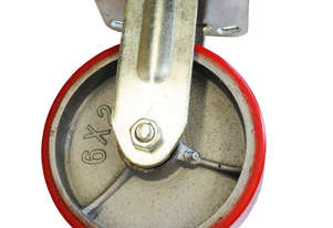 43039 - PU MOULDED CAST IRON WHEEL CASTOR(FIXED)