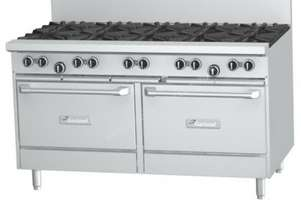 Garland GFE60-10CR Gas Range 10 Open Top Burners 1 Convection oven