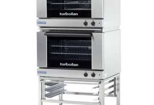 Turbofan E22M3/2C - Half Size Tray Manual Electric Convection Ovens Double Stacked With Castor Base