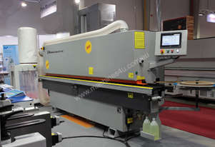 Fully automated edgebanders with corner ronder, pre-milling, spray and return conveyor