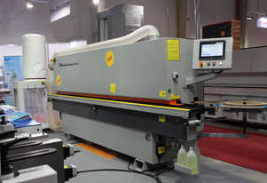 Fully automated edgebanders NikMann-v14 with corner ronder, pre-milling, spray and return conveyor