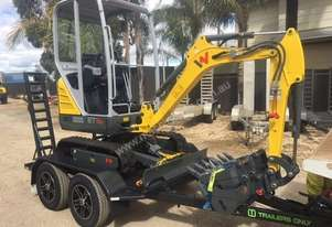 Wacker Neuson ET16QH (1.5T) Excavator and Trailer package  5 YEAR WARRANTY