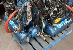 PILOT K17D DIESEL AIR COMPRESSORS x 2, KOHLER Twin ITALY, 145 PSI Suit VAN, UTE from $1,800 INCL GST