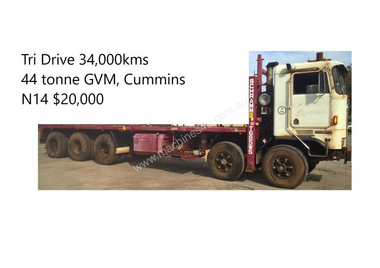 Kenworth K100E Cab Chassis Tri Drive Tandem Steer 10X6