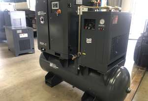 5.5kW Screw Compressor with tank and dryer 27 cfm