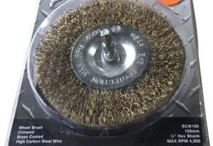 Josco Brumby Spindle-Mounted Wheel Brush 100mm BCW100