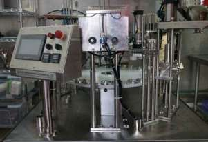Popsicle filling and sealing machine with Chicago Hush5000 Aircompressor