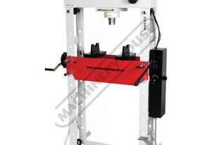 HPF-50 Industrial Hydraulic Press - 50 Tonne CNC Welded Steel Frame Construction Includes Adjustable