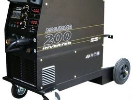Wheel-mounted Uni-Mig MIG-TIG-MMA 200amp Inverter