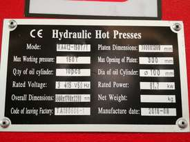 LARGE SINGLE DAYLIGHT HOT PRESS 3800 X 1300MM X 150T IDEAL FOR BENCHTOPS *ON SALE* - picture16' - Click to enlarge