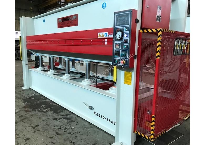 LARGE SINGLE DAYLIGHT HOT PRESS 3800 X 1300MM X 150T IDEAL FOR BENCHTOPS