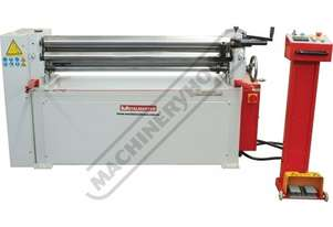 PR-133A Motorised Plate Curving Rolls 1300 x 2.5mm Mild Steel Capacity Motorised Up/Down Rear Roll,