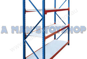 WAREHOUSE RACK 300KG 4 TIER 2M X 600MM