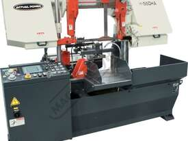 H-550HA-NC NC Double Column Metal Cutting Band Saw - Automatic Hitch Feed 550 x 550mm (W x H) Rectan - picture2' - Click to enlarge