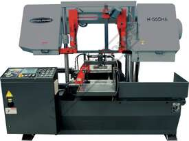 H-550HA-NC NC Double Column Metal Cutting Band Saw - Automatic Hitch Feed 550 x 550mm (W x H) Rectan - picture0' - Click to enlarge