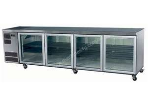 Skope CC700 Slimline Series Four Door Bench Fridge - 2820mm