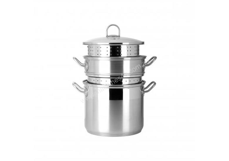 Chef Inox Professional 4pce 9.0lt Multi Cooker with Lid (s/s Handle) - 73125-4
