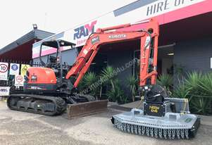 New Norm Engineering Grass Master 4ft Slasher Attachment to suit 5T Excavator for Sale or Hire
