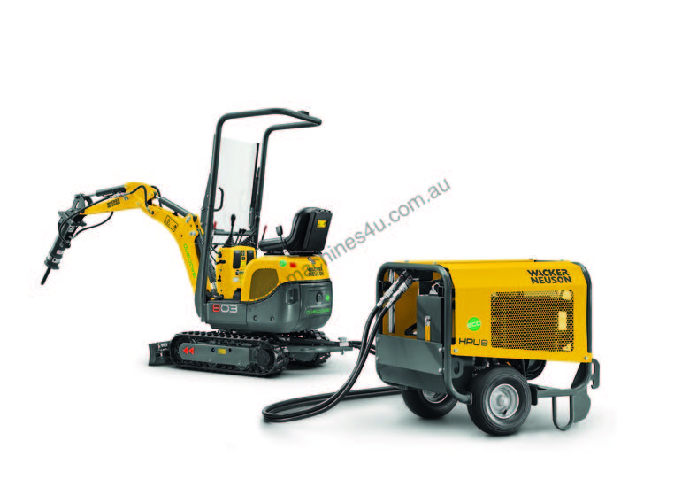 803 Dual Power tracked excavator