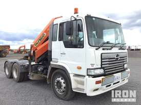 2004 Hino FS1K 6x4 Prime Mover w/Crane - picture0' - Click to enlarge