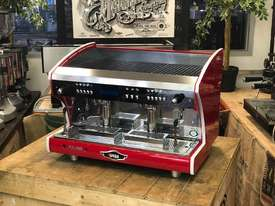 WEGA POLARIS TRON 2 GROUP RED ESPRESSO COFFEE MACHINE NEW - picture0' - Click to enlarge