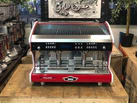 WEGA POLARIS TRON 2 GROUP RED ESPRESSO COFFEE MACHINE NEW - picture1' - Click to enlarge