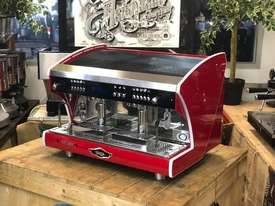 WEGA POLARIS TRON 2 GROUP RED ESPRESSO COFFEE MACHINE NEW - picture2' - Click to enlarge