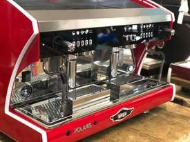 WEGA POLARIS TRON 2 GROUP RED ESPRESSO COFFEE MACHINE NEW - picture8' - Click to enlarge