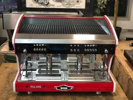 WEGA POLARIS TRON 2 GROUP RED ESPRESSO COFFEE MACHINE NEW - picture9' - Click to enlarge