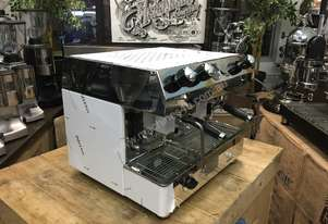 FRACINO CONTEMPO 2 GROUP DUAL FUEL STAINLESS ESPRESSO COFFEE MACHINE MOBILE CART
