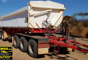 2007 Bruce Rock Side Tipper Trailer. EMUS TS432