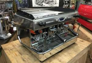 ROYAL VALLELUNGA 2 GROUP HIGH CUP DUAL BOILER STAINLESS ESPRESSO COFFEE MACHINE