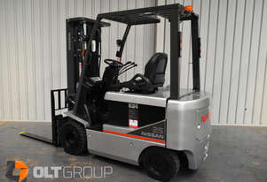 Nissan T1B 2.5 Tonne Electric Forklifts Container Mast Markless Tyres Low Hours