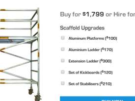 Double Width Aluminium Mobile Scaffold - picture2' - Click to enlarge