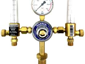 Harris Argon Regulator & Twin Flow Meters Vertical Gas Inlet Bottom Entry 30 LPM 821DB2 - picture0' - Click to enlarge