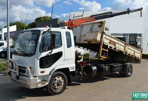 2009 MITSUBISHI FIGHTER  Tipper Crane Truck