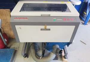 Laser engraver with fume extractor