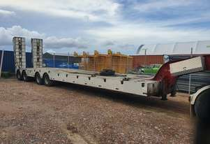 2008 Lusty Quad Axle Low Loader with a Lusty 2 axle Dolly.