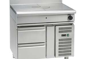 Waldorf 800 Series RNL8100G-RB - 900mm Gas Target Top Low Back Version - Refrigerated Base