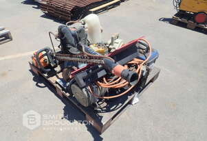 PALLET COMPRISING OF PUMP, HEDGER, CHAINSAW, BLOWER, INDUCTION MOTOR & GENSETS