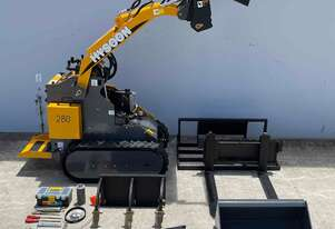 HYSOON HY280 MINI LOADER PACKAGE INCLUDES 8 x ATTACHMENTS TWIN LEVER CONTROL