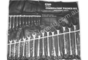 TOOLTEC Spanner Set Ring Open End 25 PCE Metric