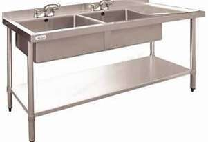 Stainless Steel Double Bowl Sink RH Drainer DN757