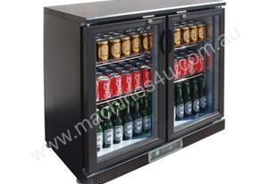 F.E.D. SC248G Two Door BLACK MAGIC Bar Cooler