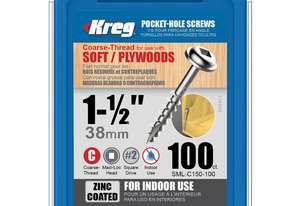 Kreg Pocket Screws 1-1/2 Coarse Thread - 100pc